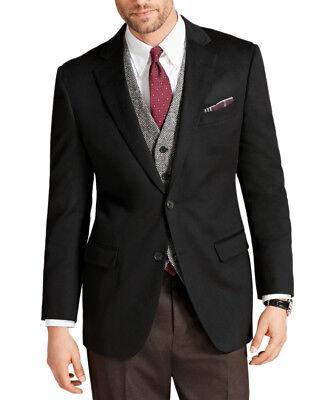 Brooks Brothers Mens Black Fitzgerald Fit Cashmere Two Button Blazer 48L 0953-1