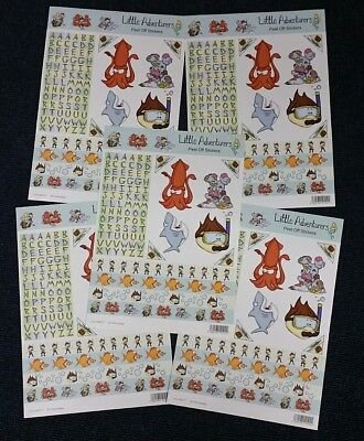 5 - 3D Little Adventure Childrens Stickers Sea Themed - No cutting Required