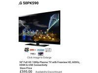 LG 50'' Full HD plasma tv _ free delivery