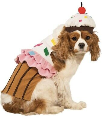 Rubie's Cute Desing Cupcake Dog Halloween Costume Party Pet Dress And Hat (Cupcake Pet Kostüm)