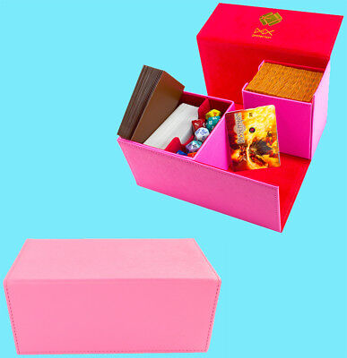 DEX PROTECTION CREATION LARGE PINK 200 Card DECK BOX Standard Storage Case magic ()