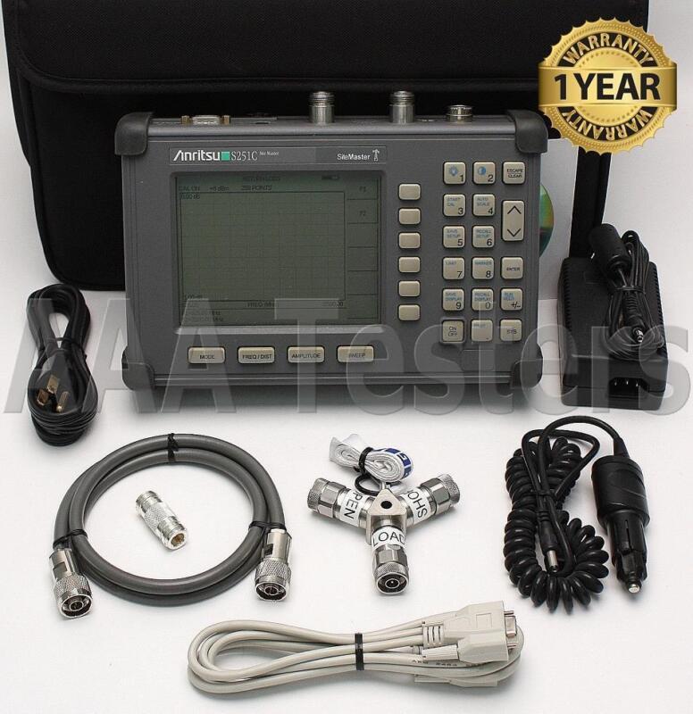 Anritsu Site Master S251C Cable Antenna SiteMaster w/ Option 10B Bias Tee S251