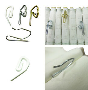Curtain Hooks For Pleating Tape And Pinch French Pleat Strong Sewing Sew Fabric Ebay