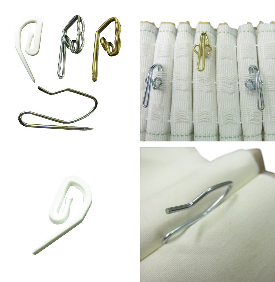 Curtain Hooks For Pleating Tape And Pinch French Pleat