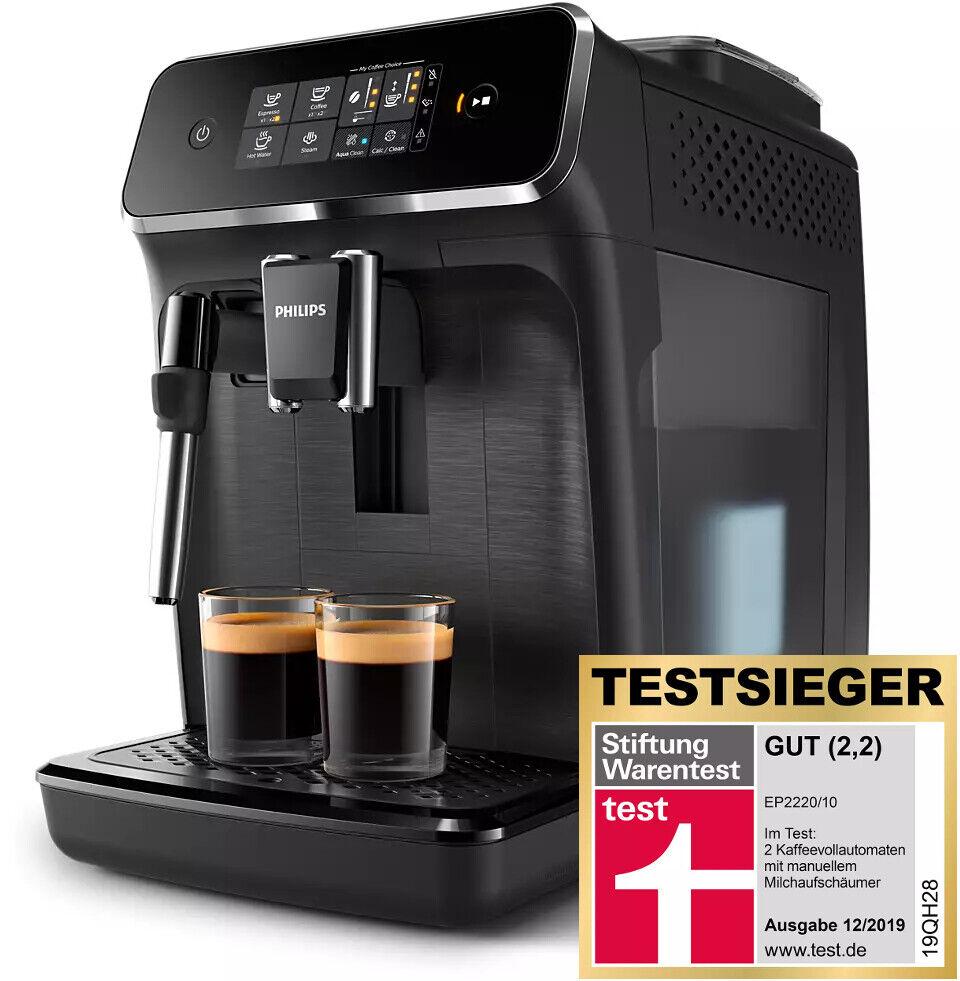 PHILIPS Kaffeevollautomat EP 2220/10 Serie 2200 Espressomaschine Testsieger 2019