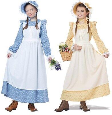 Little House Frontier Holly Hobbie Pioneer Bonnet 1800s Prairie Girl Costume - Pioneer Girls Costume