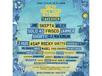 1 x Standing ticket for Boy Better Know BBK Takover O2 London 27/8/17 Skepta, JME, ASAP Rocky +more