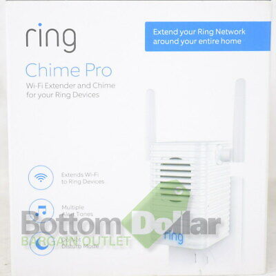 Ring Chime Pro Wi-Fi Extender and Indoor Chime Wireless White