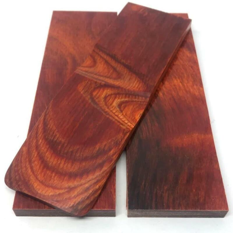 "Dymalux ""Cocobolo"" Laminated Wood Knife Handle Scales Slabs- 1/4"" x 1.5"" x 5"""