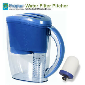 ProPur Water Filter Pitcher + ProOne G2.0 Filtration Element (Removes Flouride!)