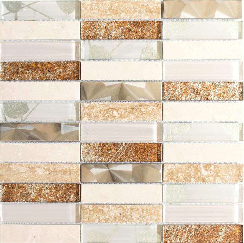 Mosaico piastrella vetro bianco muro//suolo bagno cucina 50-0101 I 1 foglio