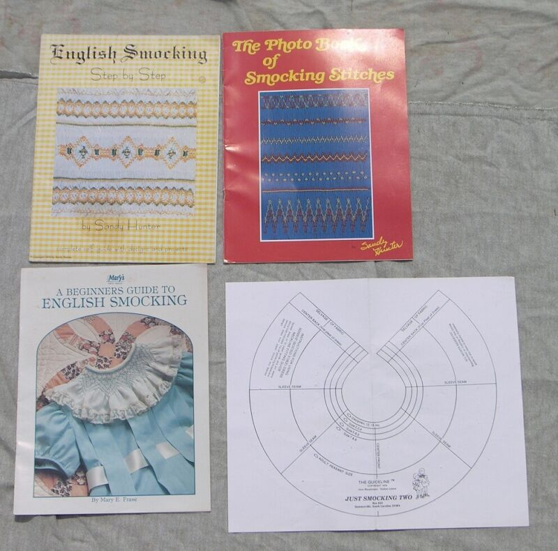 3 BK Hunter Frase Beginners Guide English Smocking Photo Book Smocking Stitches