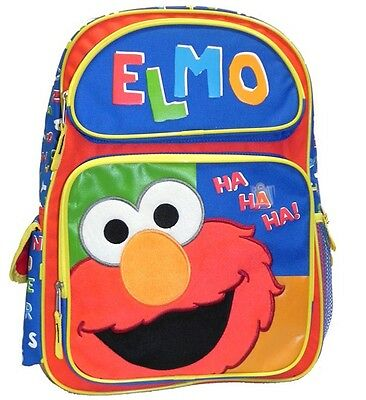 "Sesame Street Elmo 16"" School Travel Backpack 05456, New"
