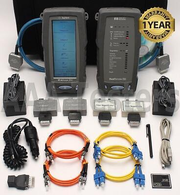 Agilent Wirescope 350 Cat5e Cat6 Sm Mm Fiber Certifier Tester