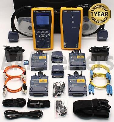 Fluke Dtx-1800 Cat6a Sm Mm Fiber Cable Analyzer Dtx-sfm2 Dtx-mfm2 Dtx-1800-ms