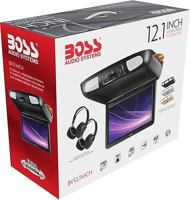 "Boss BV12.1MCH-Flip-Down 12.1"" Screen DVD/CD/USB/SD/MP3 Player HD Digital Input"
