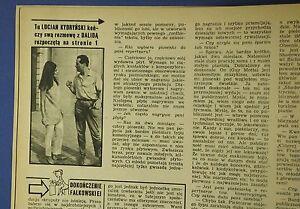 DALIDA in Poland 1963 rare interview by L.Kydrynski Benito Mussolini - <span itemprop=availableAtOrFrom>europe, Polska</span> - Zwroty są przyjmowane - europe, Polska