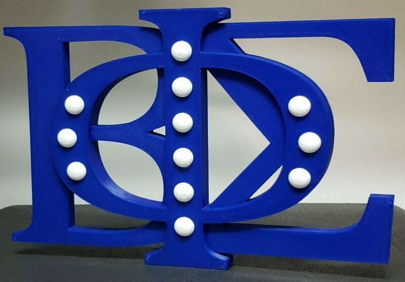 PHI BETA SIGMA Fraternity Greek Letters Decoration