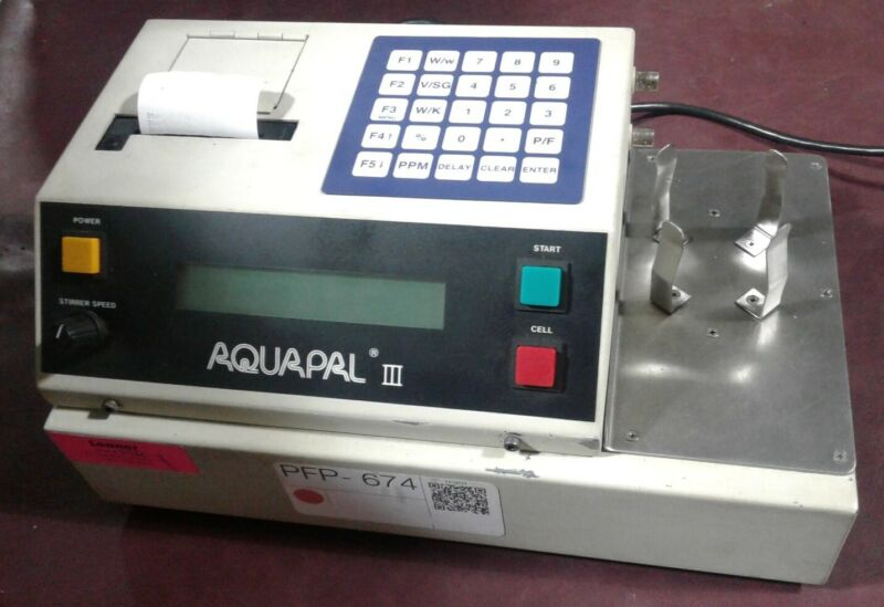 CSC Scientific AQUAPAL III Ver 4.1 - Coulometric Titrator Moisture Analyzer.