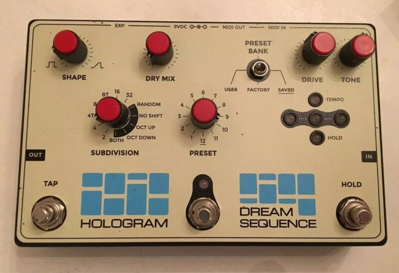 Hologram Dream Sequence Programmable Rhythm Octave Guitar Effects Pedal W/Box