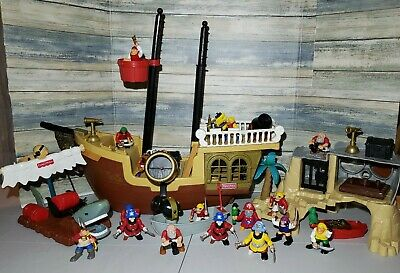 1st Release Fisher Price PIRATE SHIP 1994 Great Adventures Not COMPLETE + EXTRAS