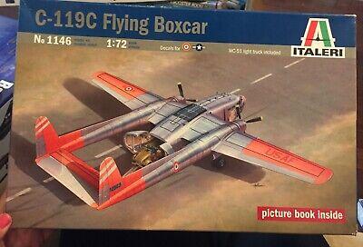 Italeri 1:72 C-119 C Flying Boxcar w/ WC-51 Light Truck Plastic Model Kit 1146
