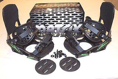 M8Trix Snowboard Bindings 4 Bolt & Burton 3D Mounting Provisions Men's Large