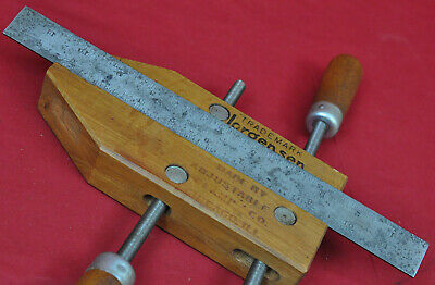 Lufkin Rule Co. 4 Grad Vtg Tempered Steel Metal 12 Inch Ruler Saginaw Mi Usa