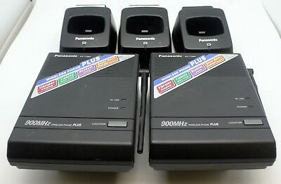 Panasonic Kx-t7885 Wireless Phone 900mhz Bases And Charging Docks