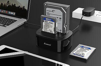 DUAL Festplatten Dockingstation / Klonstation SATA/HDD/SSD USB 3.0 offline clone
