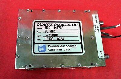 Wenzel Associates 500-16423a Quartz Oscillator 80mhz 15vdc