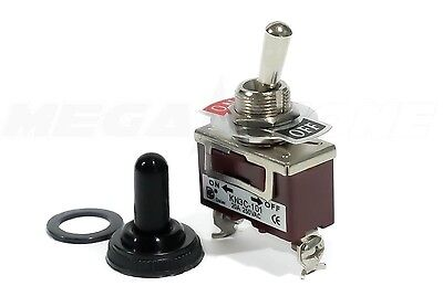 Toggle Switch Heavy Duty 20a125v Spst Onoff Wwaterproof Cover. Usa Seller