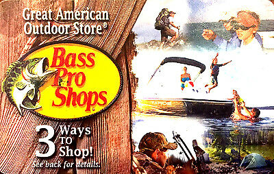Bass Pro Shops Gift Card -Good in Store or Online--0-- balance RECHARGEABLE ! ()