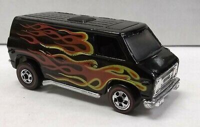 Hot Wheels Redline Flying Colors black with flames NEAR MINT