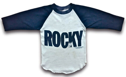 Vintage 70s 1976 ROCKY Movie Promo T SHIRT Raglan Jersey Balboa sz Youth Kids