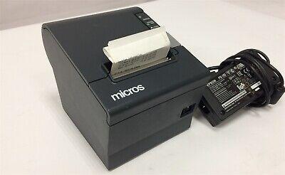 Micros Epson Tm-t88iv M129h Pos Receipt Printer M179l Idn Interface W Ac