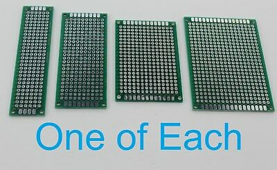 4 Double Sided Universal Pcb Proto Perf Board 2x8 3x7 4x6 5x7 Cm 2 3 4 5 6 7 8