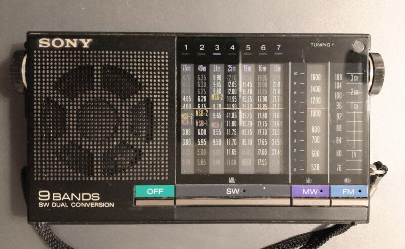 Sony ICF-4900 9 Band Receiver Radio fm/mw/sw Great Condition HTF unit