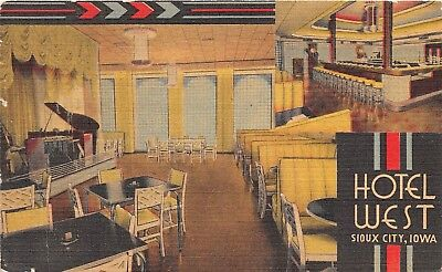 Sioux City Iowa Hotel West Coffee Shop Glass Top Grill Empire Room Interior PC