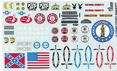 GOFER RACING 1:24 AND 1:25 SCALE STUFF SHEET #4 DECAL SET FOR MODEL CARS