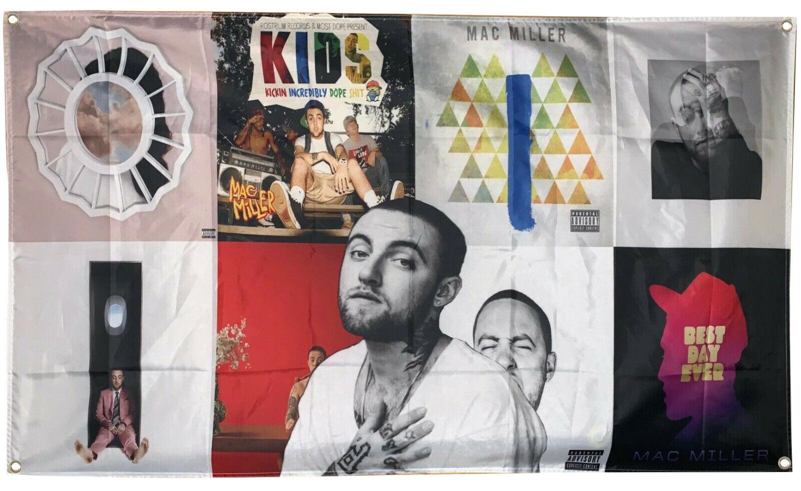 Mac Miller Album Cover Collage Flag 3x5 Feet Banner
