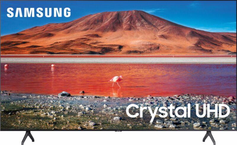 """Open-Box Certified: Samsung - 43"""" Class 7 Series LED 4K UHD Smart Tizen TV"""