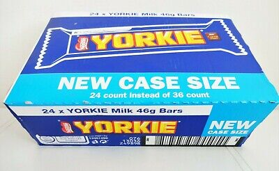 1 BOX of Nestle YORKIE MILK CHOCOLATE BARS (24 x 46g) ~ BBD: Aug 2020