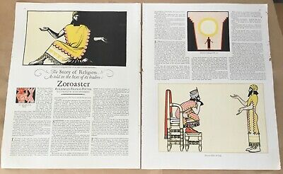 Zoroaster pictorial 1927 orig vintage print 20s art illustration Keith Henderson