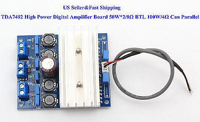 US TDA7492 High Power Digital Amplifier Board 50W*2/8Ω BTL 100W/4Ω Can Parallel