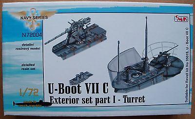 "CMK N72004 Detail Set ""Exterior Set Turret"" für U-Boot VIIC Revell® in 1:72"