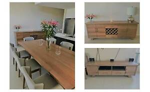 Victorian Ash 11 Piece Dining Setting, Buffet & TV Unit Dover Gardens Marion Area Preview