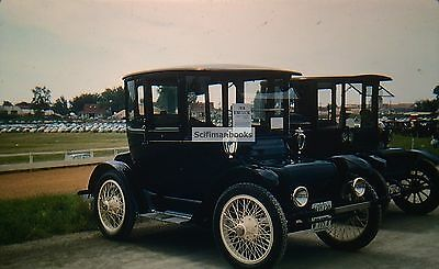 KODACHROME Red Border 35mm Slide 1918 Detroit Electric Vintage Car State Fair!!!