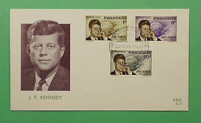 DR WHO 1965 RWANDA FDC JFK JOHN F KENNEDY  C241258