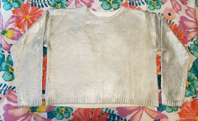 Girls H&M Shimmery Long Sleeve Sweater Top Size 8-10Y